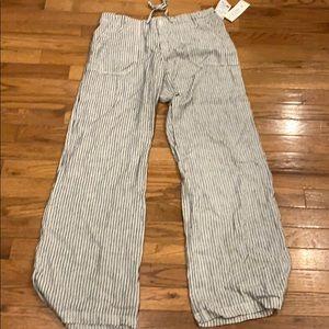 Just living stripe drawstring pants.